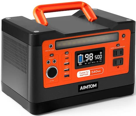 AIMTOM 540Wh Portable Power Station, Lithium Battery Pack