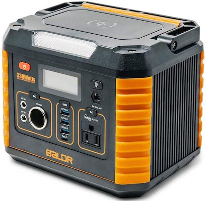 BALDR Portable Power Station 330W, Portable Solar Generators for home use