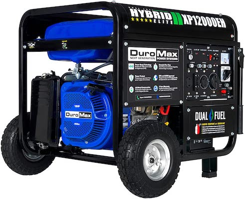DuroMax XP12000EH Generator-12000 Watt Gas or Propane Powered Home Back Up