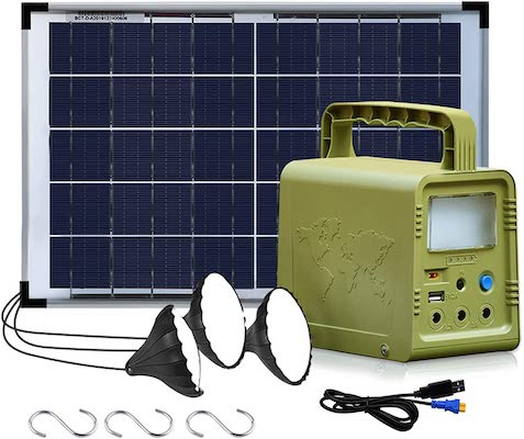 ECO-WORTHY Solar Powered Generator 84Wh, Portable Power Station
